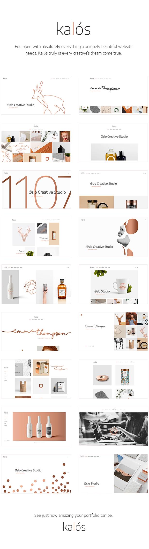 WordPress theme Kalόs - A Clean Multi-Concept Portfolio Theme (Portfolio)